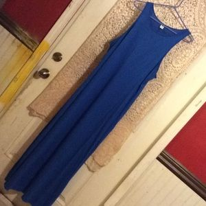 Royal blue Old Navy maxi dress